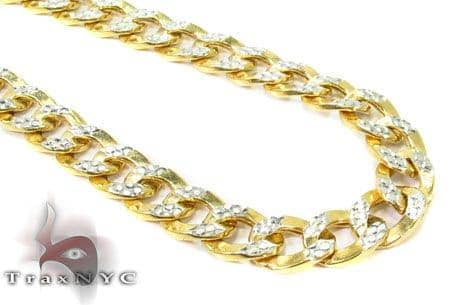 10K Yellow Gold Diamond Cut Cuban Chain 24 Inches 6.5mm 16.2 Grams Gold