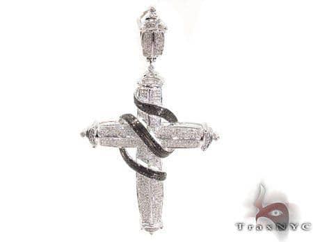 Prong Diamond Silver Cross 31637 Silver