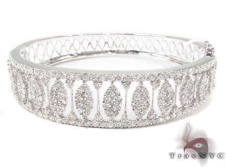 Prong Diamond Bracelet 32075 Bangle