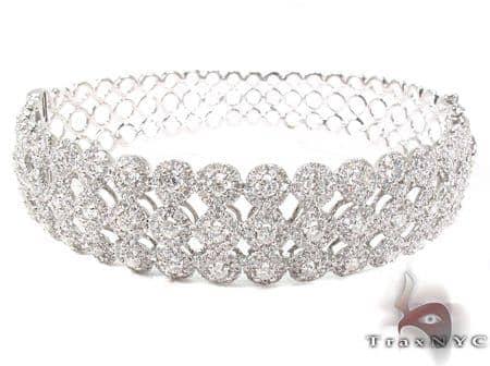 Prong Diamond Bracelet 32076 Bangle