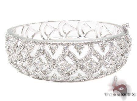 Prong Diamond Bracelet 32078 Bangle