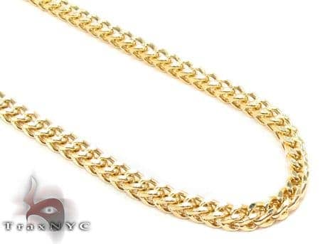 14K Yellow Gold Franco Chain 22 Inches 3mm 12.38 Grams Gold