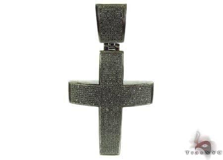 Prong Black Diamond Silver Cross 32259 Silver
