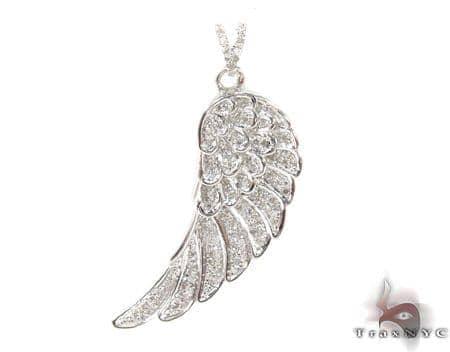 Prong Diamond Pinna Silver Pendant Metal