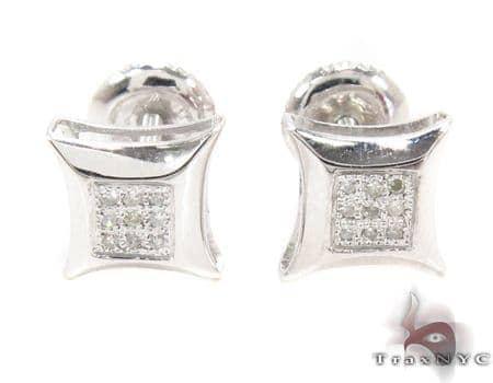 Prong Diamond Earrings 32303 Metal