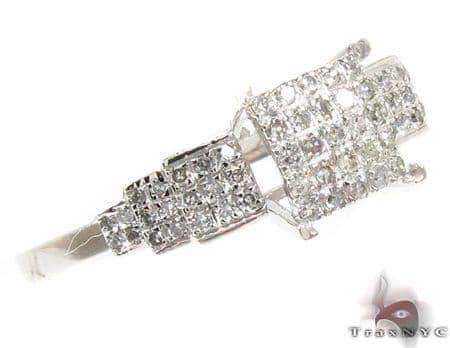 10K White Gold Prong Diamond Ring 32368 Anniversary/Fashion