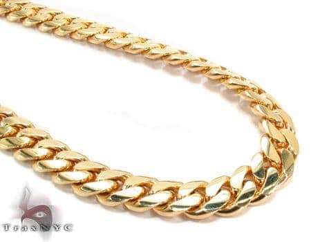 Miami Cuban Curb Link Chain 22 Inches 8mm 107.3 Grams Gold