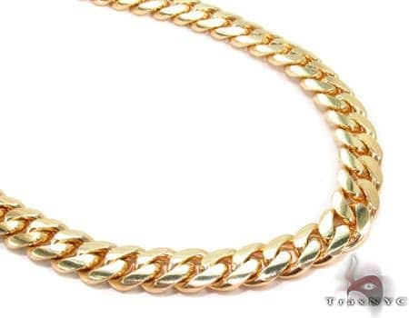 Miami Cuban Curb Link Chain 22 Inches 7mm 53.9 Grams Gold