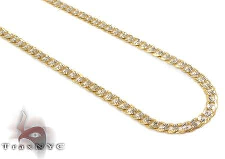 14K Gold Diamond Cut Cuban Chain 20 Inches 2mm 3.50 Grams Gold