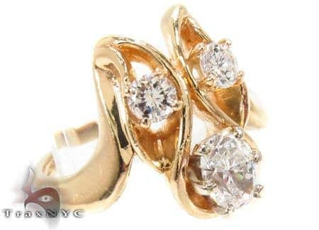 14K Yellow Gold Triple Diamond Ring 32662 Anniversary/Fashion