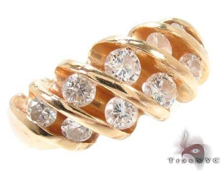 14K Yellow Gold Channel Diamond Ring 32661 Anniversary/Fashion