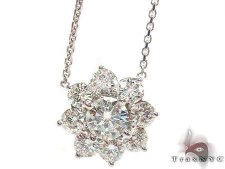 Prong Diamond Necklace 32682 Diamond