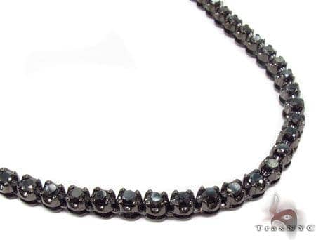Prong Black Diamond Chain 30.5 Inches 4mm 56.3 Grams Diamond