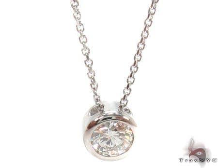 Bezel Diamond Necklace 32697 Diamond