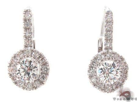 Prong Diamond Hoop Earrings 32725 Style