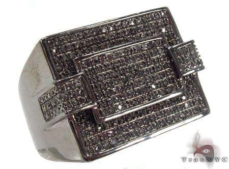Prong Black Diamond Ring 32848 Metal