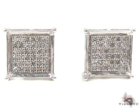 Micro-Pave Diamond Earrings 32975 Stone