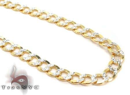 10k Gold Diamond Cut Cuban Chain 30 Inches 4mm 9.07Grams Gold