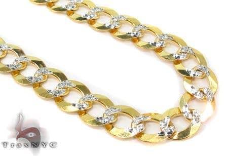 Solid Cuban Diamond Cut Chain 22 Inches 9mm 30.9 Grams Gold