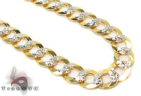 Hollow Cuban Diamond Cut Chain 28 Inches 6mm 22.1 Grams Gold