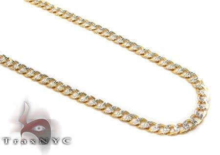Solid Cuban Diamond Cut Chain 24 Inches 2.5 mm 4.5 Grams Gold