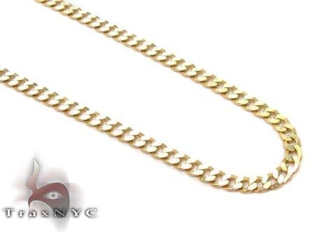 Solid Cuban Chain 24 Inches 2mm 3.5 Grams Gold