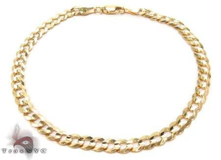 Solid Cuban Bracelet 8 Inches 4mm 3.0 Grams Gold