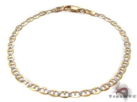 10K Gold Anchor Diamond Cut Bracelet 33206 Gold