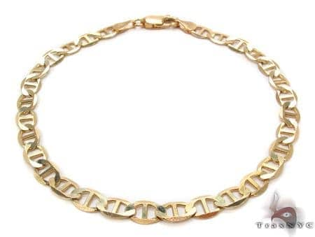10K Gold Anchor Bracelet 33209 Gold