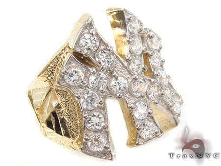 CZ 10K Gold NY Ring 33218 Metal