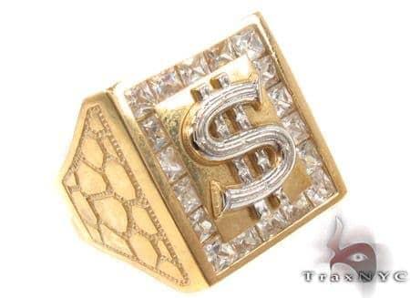 CZ 10K Yellow Gold Ring 33292 Metal