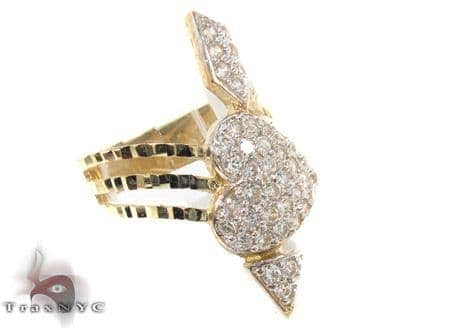 10K Yellow Gold Cupid Arrow Ring 33319 Anniversary/Fashion