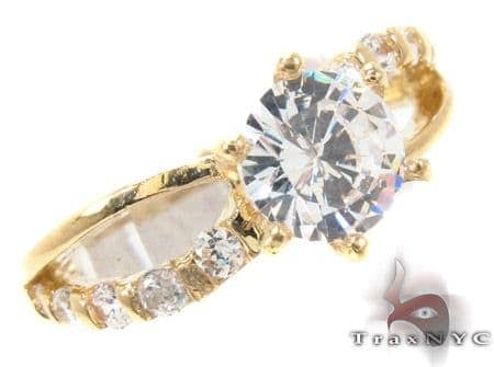 CZ 10k Gold Ring 33373 Anniversary/Fashion