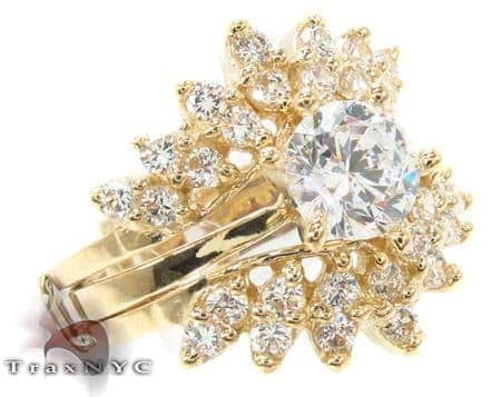 CZ 10k Gold Ring 33417 Anniversary/Fashion