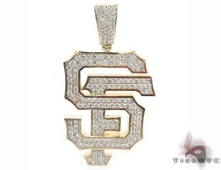 Custom Prong Diamond SF Pendant Metal