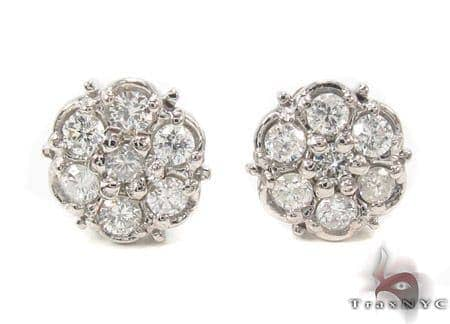 Prong Diamond Earrings 33436 Stone