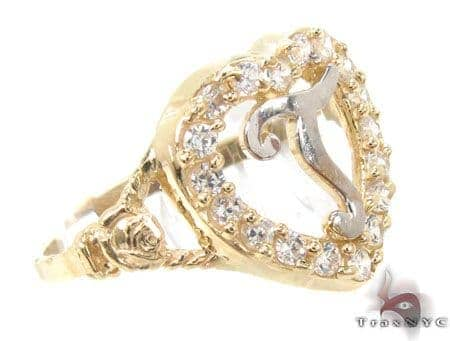 CZ 10k Gold T Ring 33508 Anniversary/Fashion