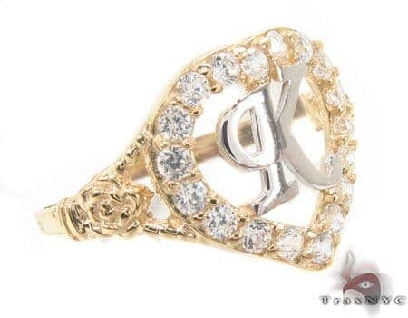 CZ 10k Gold K Ring 33510 Anniversary/Fashion