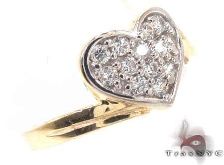 CZ 10k Gold Heart Ring 33540 Anniversary/Fashion