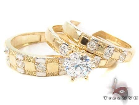 CZ 10K Gold Ring 33608 Anniversary/Fashion