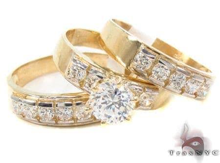 CZ 10K Gold Ring 33617 Anniversary/Fashion