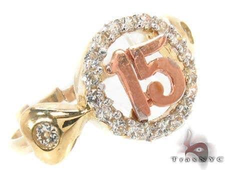CZ 10K Gold Ring 33626 Anniversary/Fashion