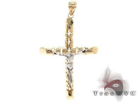 CZ 10K Gold Cross 33638 Gold