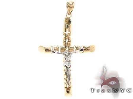 CZ 10K Gold Cross 33638 Gold