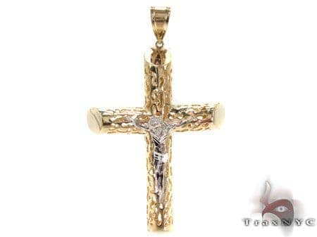 CZ 10K Gold Cross 33642 Gold