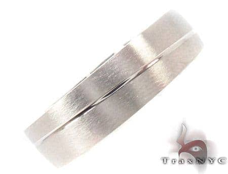 14K White Gold Wedding Band 33675 Style