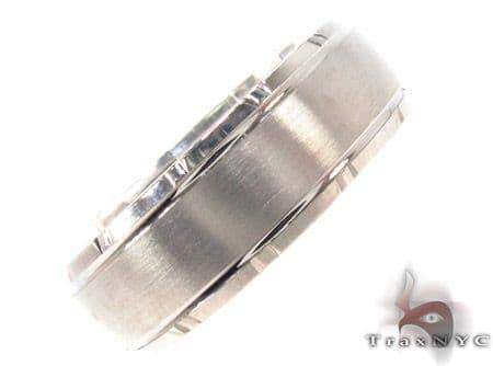 14K White Gold Wedding Band 33688 Style