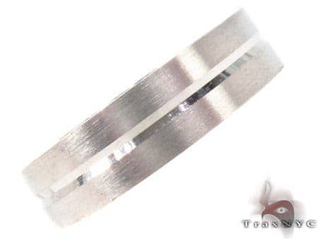 14K White Gold Wedding Band 33690 Style