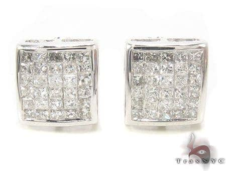 Invisible Diamond Earrings 33713 Stone