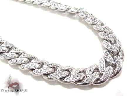 Prong Diamond Cuban Chain 32 Inches 13mm 347.1 Grams Diamond